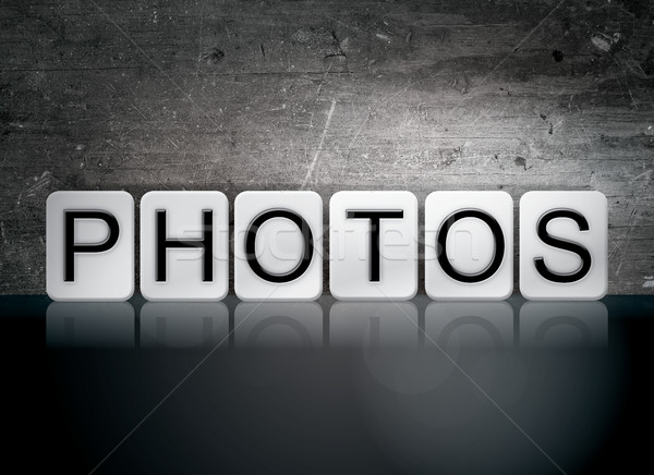 Photos Tiled Letters Concept and Theme Stock photo © enterlinedesign
