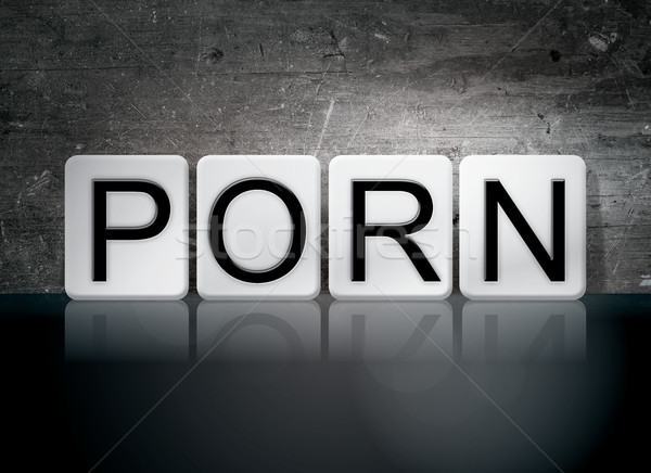 Porn Tiled Letters Concept and Theme Stock photo © enterlinedesign