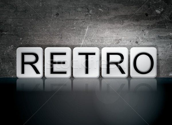 Retro Tiled Letters Concept and Theme Stock photo © enterlinedesign