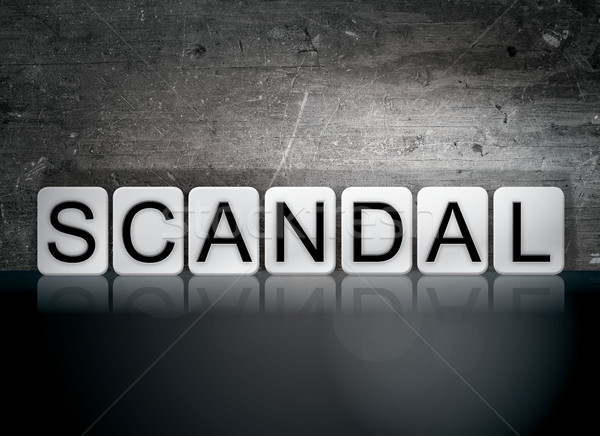 Scandal Tiled Letters Concept and Theme Stock photo © enterlinedesign