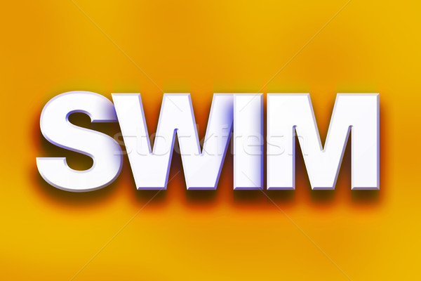 Swim Concept Colorful Word Art Stock photo © enterlinedesign
