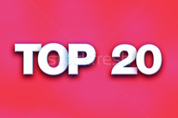 Top 20 Concept Colorful Word Art Stock photo © enterlinedesign