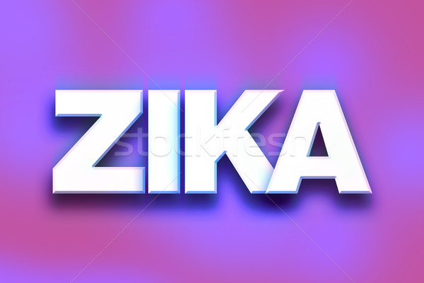 Zika Concept Colorful Word Art Stock photo © enterlinedesign