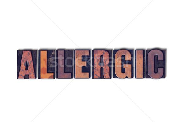 Alérgico isolado palavra escrito vintage Foto stock © enterlinedesign