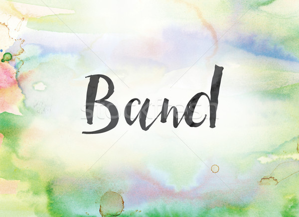 Band Concept Watercolor and Ink Painting Stock photo © enterlinedesign
