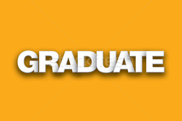 Graduate Theme Word Art on Colorful Background Stock photo © enterlinedesign