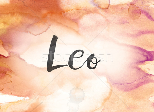 Leo Concept Watercolor and Ink Painting Stock photo © enterlinedesign