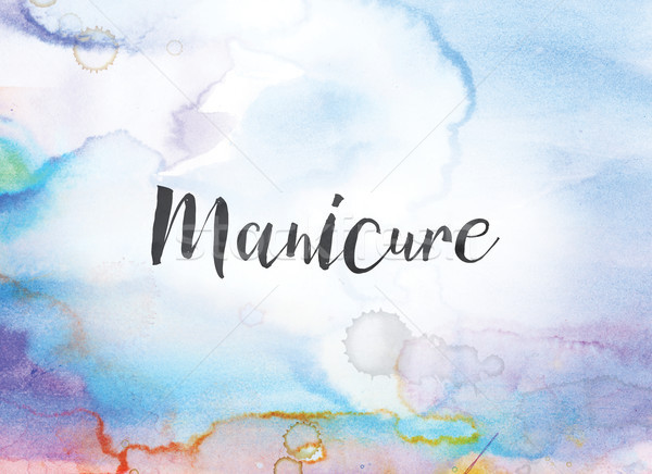 Manicure Concept Watercolor and Ink Painting Stock photo © enterlinedesign