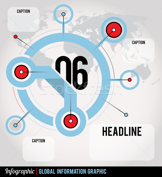 Global Infographic Stock photo © enterlinedesign