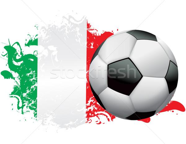 Italy Soccer Grunge Design Stock photo © enterlinedesign