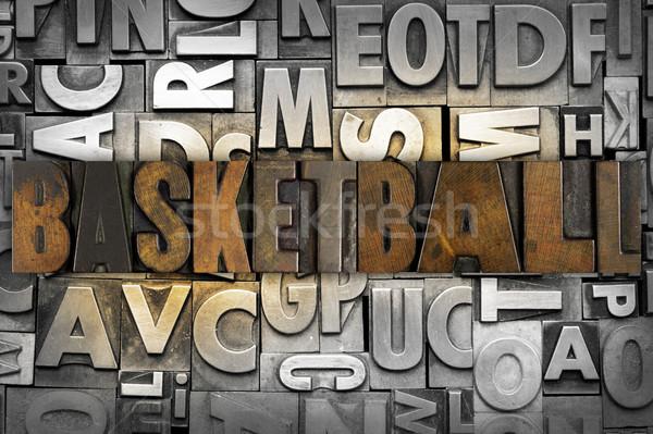 ストックフォト: バスケットボール · 言葉 · 書かれた · ヴィンテージ · タイプ