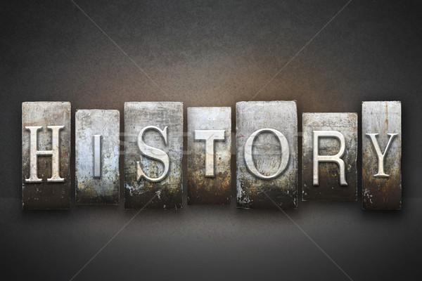 Historii słowo napisany vintage typu Zdjęcia stock © enterlinedesign