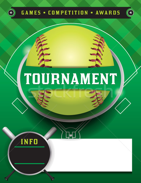 Softball Tournament Template Illustration Stock photo © enterlinedesign