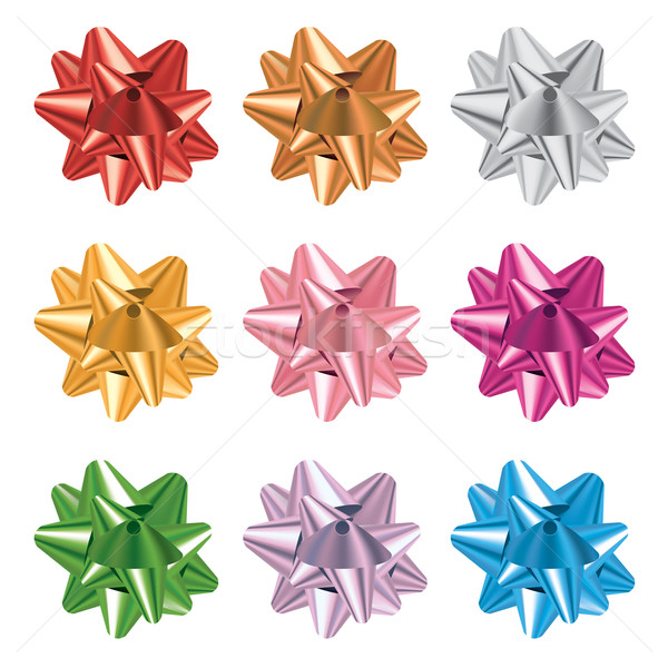Set of Colorful Gift Bows Illustration Stock photo © enterlinedesign