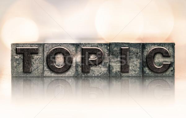 Téma klasszikus magasnyomás szó írott Stock fotó © enterlinedesign