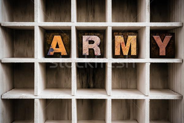 Exército tipo desenhar palavra Foto stock © enterlinedesign