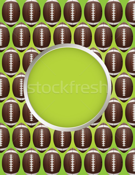 Vector American Football Pattern Party Flyer Stock photo © enterlinedesign
