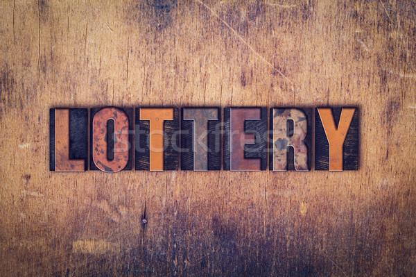 лотерея тип слово написанный Сток-фото © enterlinedesign