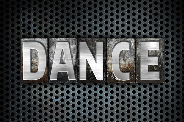 Stock photo: Dance Concept Metal Letterpress Type