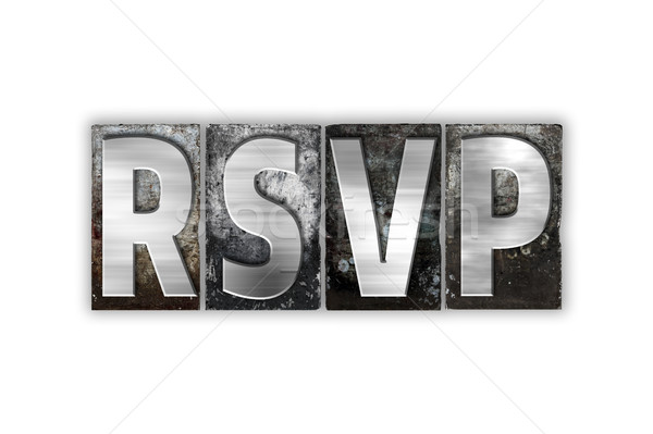 RSVP Concept Isolated Metal Letterpress Type Stock photo © enterlinedesign