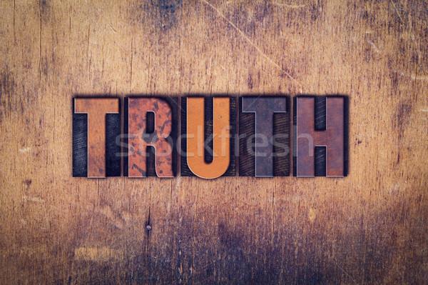 Verdade tipo palavra escrito Foto stock © enterlinedesign