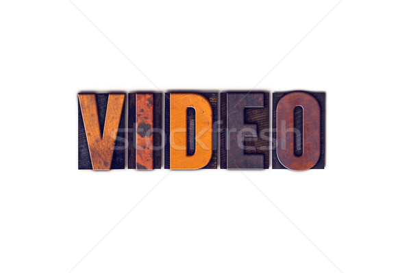 Video Concept Isolated Letterpress Type Stock photo © enterlinedesign