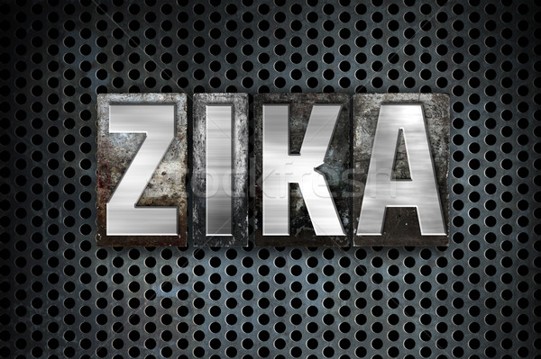 Zika Virus Concept Metal Letterpress Type Stock photo © enterlinedesign