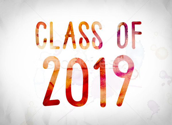 Class of 2019 Concept Watercolor Word Art Stock photo © enterlinedesign