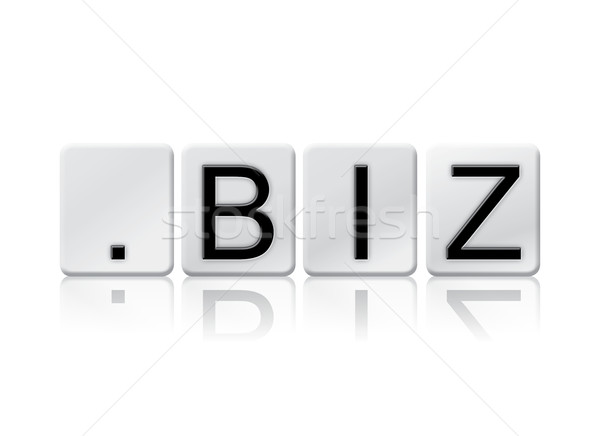Dot Biz Isolated Tiled Letters Concept and Theme Stock photo © enterlinedesign
