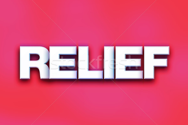 Relief Concept Colorful Word Art Stock photo © enterlinedesign