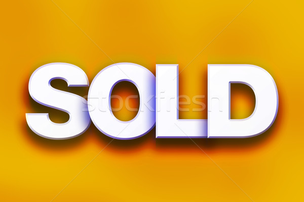 Sold Concept Colorful Word Art Stock photo © enterlinedesign