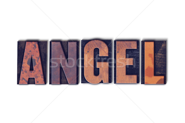 Angel Concept Isolated Letterpress Word Stock photo © enterlinedesign
