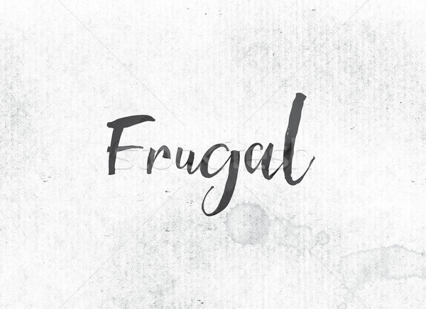 Frugal Concept Painted Ink Word and Theme Stock photo © enterlinedesign