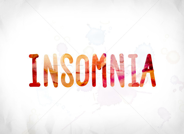 Insomnia Concept Painted Watercolor Word Art Stock photo © enterlinedesign
