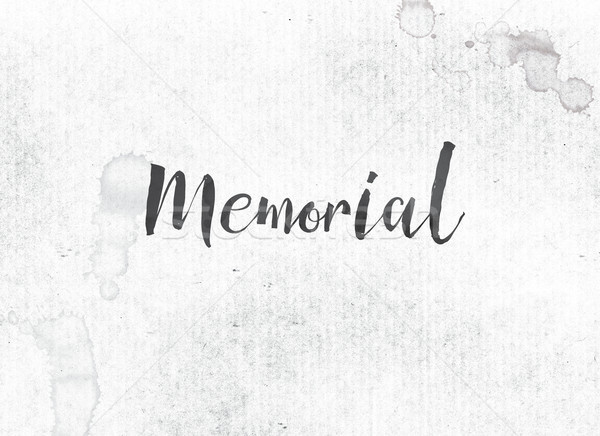 Memorial Concept Painted Ink Word and Theme Stock photo © enterlinedesign