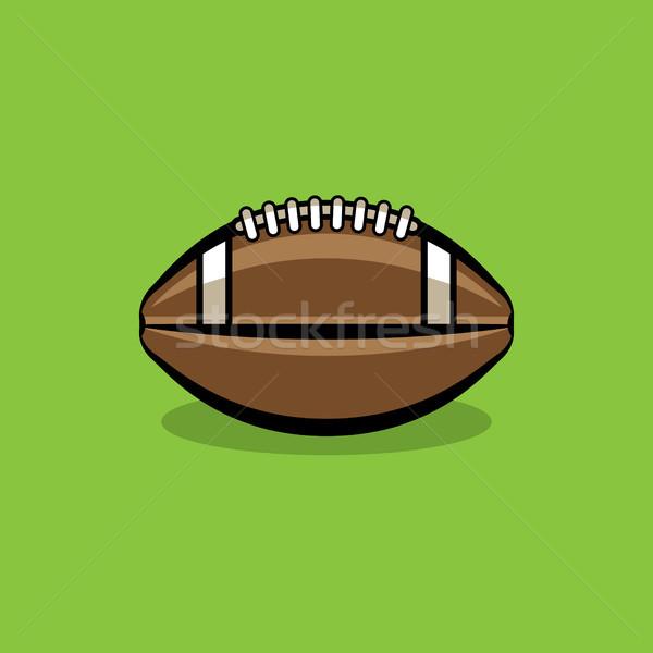 Football icône illustration séance vert Photo stock © enterlinedesign