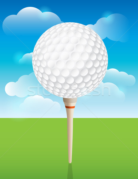 Stock photo: Golf Ball on Tee Background