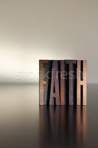 веры слово написанный Vintage тип Сток-фото © enterlinedesign