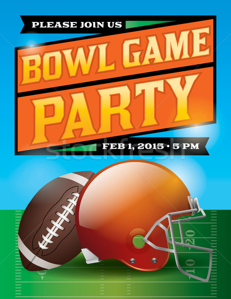 American Football Bowl Game Party Illustration Stock photo © enterlinedesign