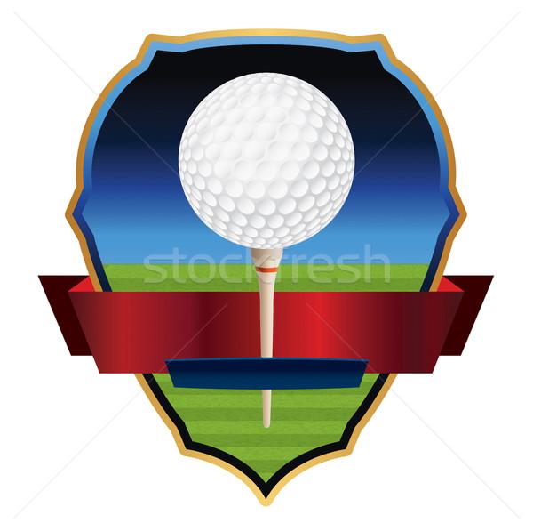 Vector Golf Emblem Illustration Stock photo © enterlinedesign