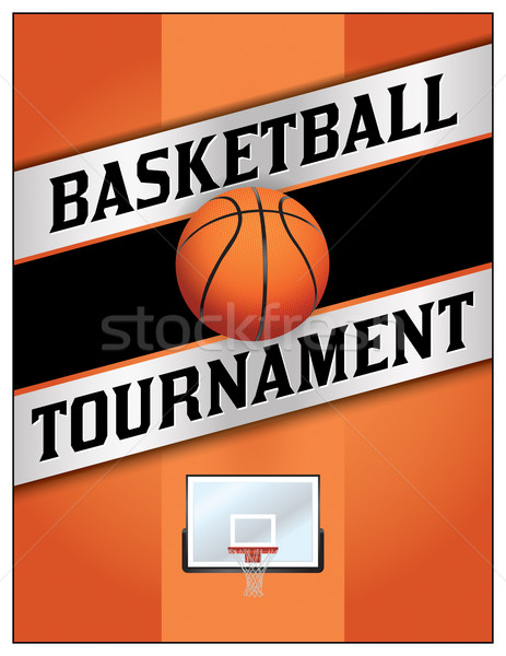 Basketball Tournamet Flyer Poster Illustration Stock photo © enterlinedesign