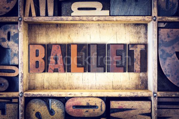 Ballet Concept Letterpress Type Stock photo © enterlinedesign