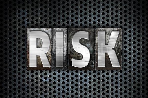 Risk Concept Metal Letterpress Type Stock photo © enterlinedesign
