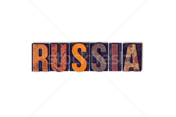 Russia Concept Isolated Letterpress Type Stock photo © enterlinedesign