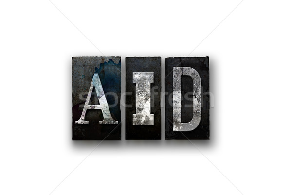 AID Concept Isolated Letterpress Type Stock photo © enterlinedesign