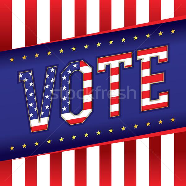 Vote Banner Illustration Stock photo © enterlinedesign
