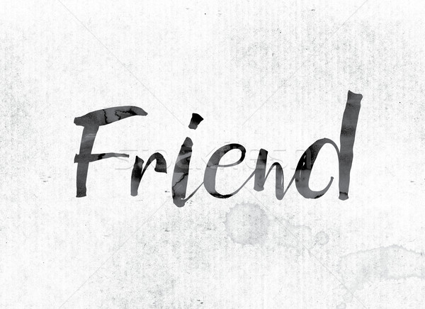 Friend Concept Painted in Ink Stock photo © enterlinedesign