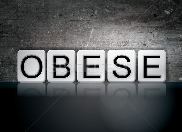 Obese Tiled Letters Concept and Theme Stock photo © enterlinedesign