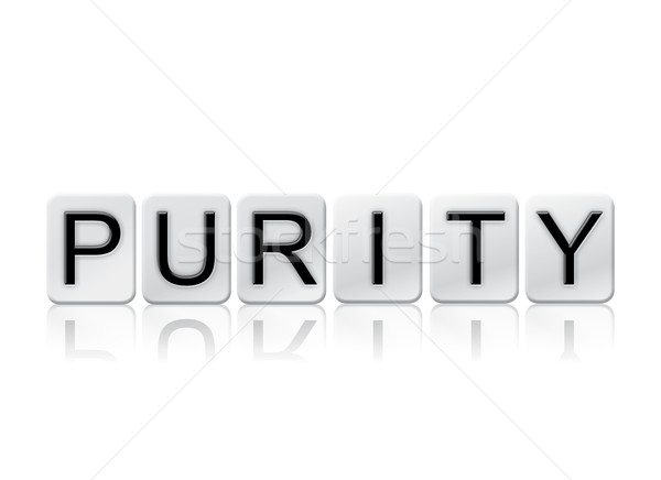Purity Isolated Tiled Letters Concept and Theme Stock photo © enterlinedesign