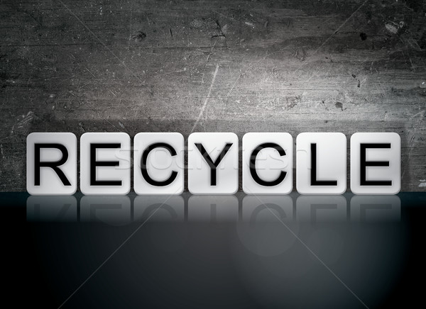 Recycle Tiled Letters Concept and Theme Stock photo © enterlinedesign